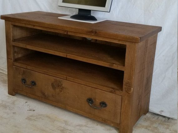 Rustic Plank Pine Furniture New Real Solid Wood Tv Cabinet Stand