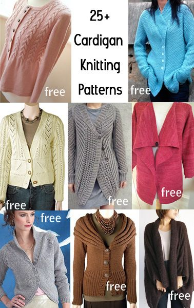 2ccbe3a06170 Cardigan Knitting Patterns with many free cardigan sweater knitting patterns