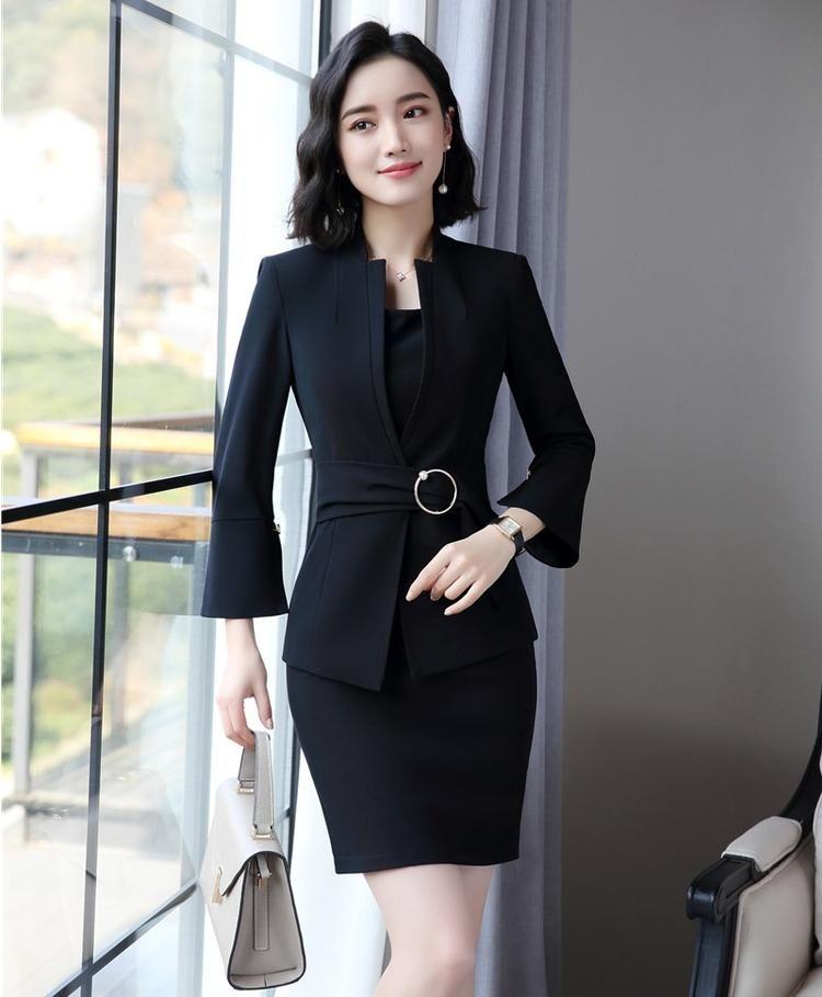Blazers Hearty Ladies Blue Blazer 2018 Long Sleeve Blasers Womens Suit Jacket Office Female Feminine Blazer Femme Work Jacket For Women Black