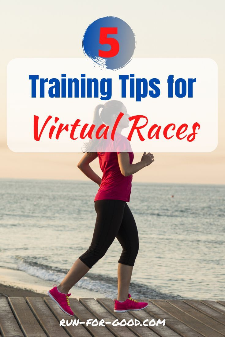 Training for a virtual race? Get training tips to help prepare for your virtual race, maintain your motivation, and make sure you have a great race day.  #virtualraces   #racingtips  #trainingschedules