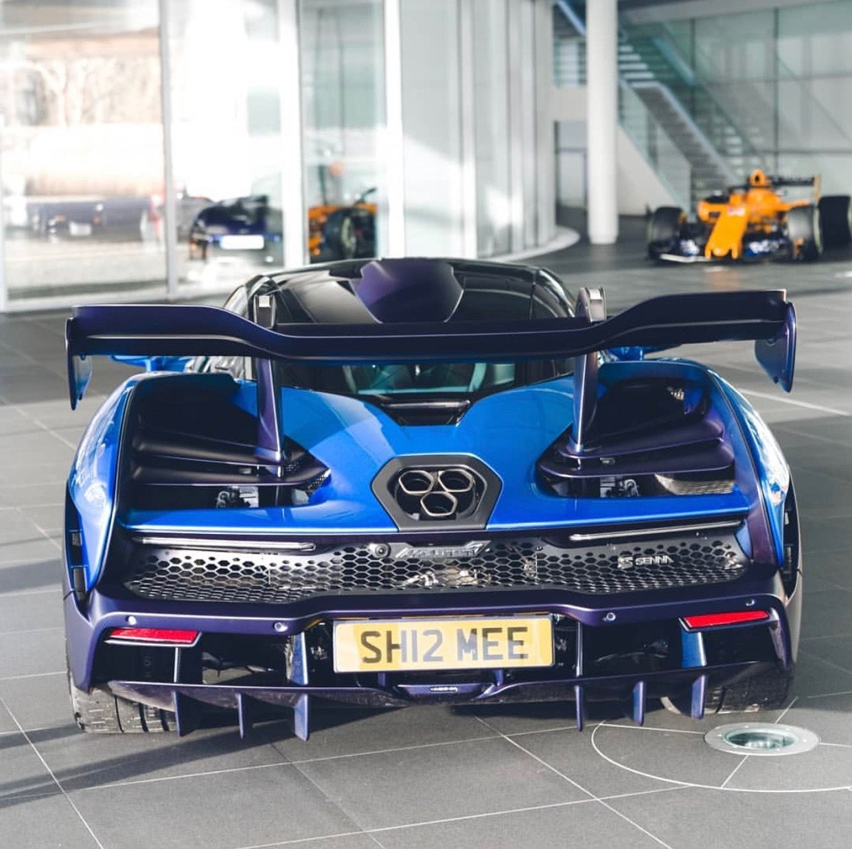 Mclaren Senna Chassis 281 Painted In Mso Cerulean Blue W Exposed Dark Blue Carbon Fiber Photo Taken By Shmee150 On I Dream Cars Sport Cars Amazing Cars
