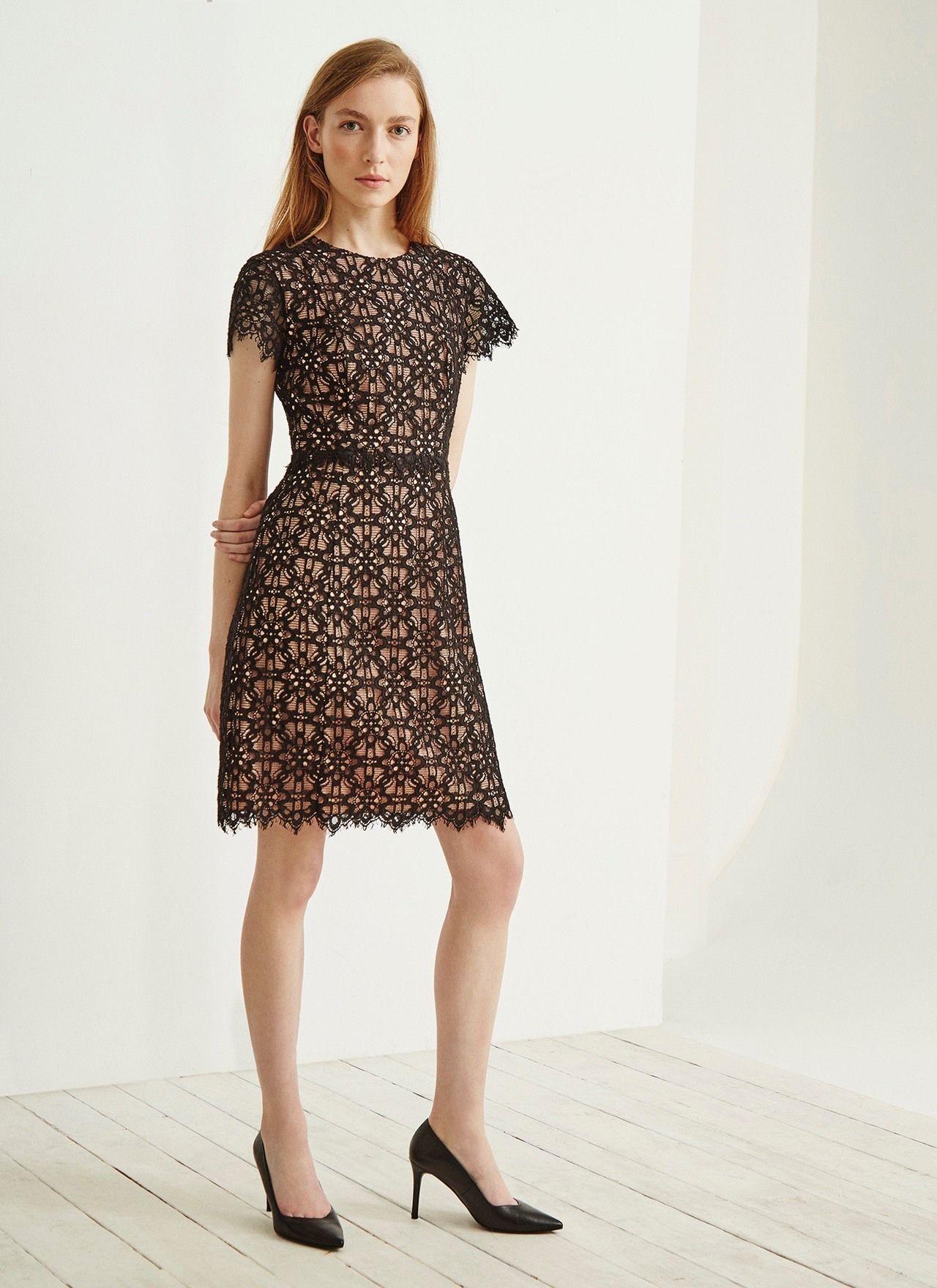 Vestido de c ctel de encaje colecci n adolfo dominguez for Vestidos adolfo dominguez outlet online