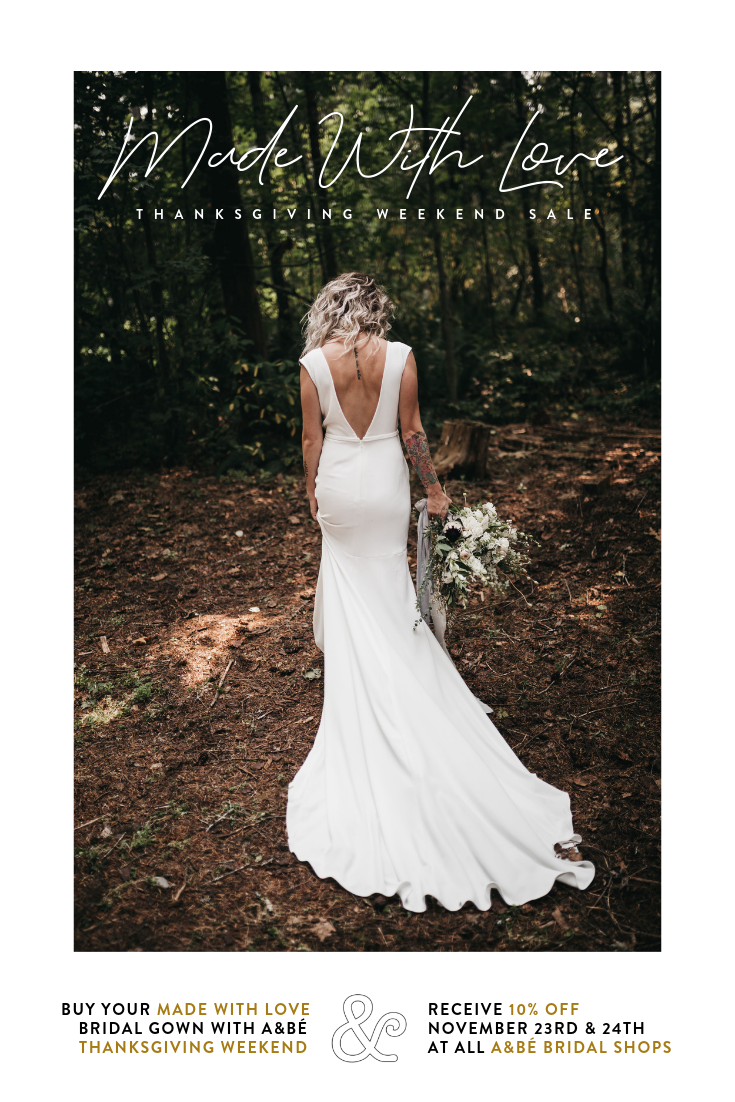 Made With Love Black Friday Sale Made With Love Wedding Dresses