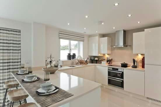 Taylor Wimpey Showhome Home Decor Kitchen Open Plan Kitchen Living Room Kitchen Design