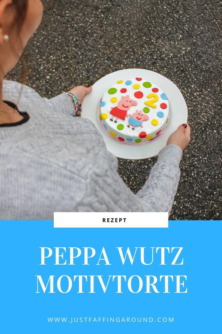 Diese Fondant - Motivtorte ist perfekt für kleine Peppa Wutz Fans! #cakedesigns
