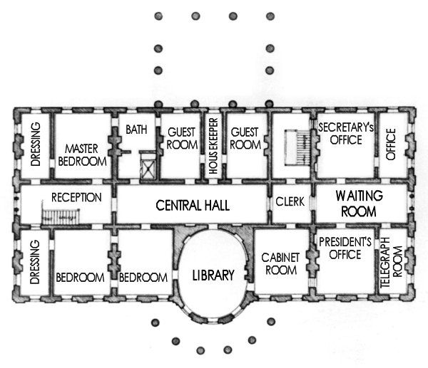 Residence Floor 2 C1903 White House Usa House Floor Plans New House Plans