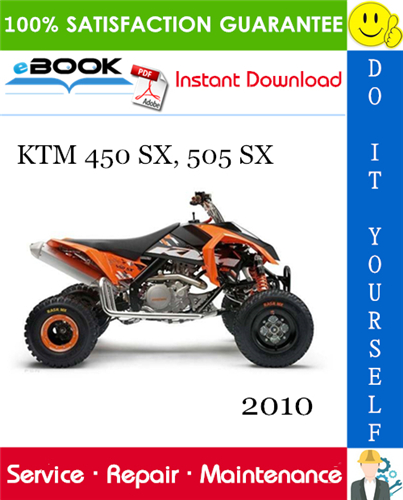 2010 Ktm 450 Sx 505 Sx Atv Service Repair Manual Ktm Repair Manuals Ktm 450