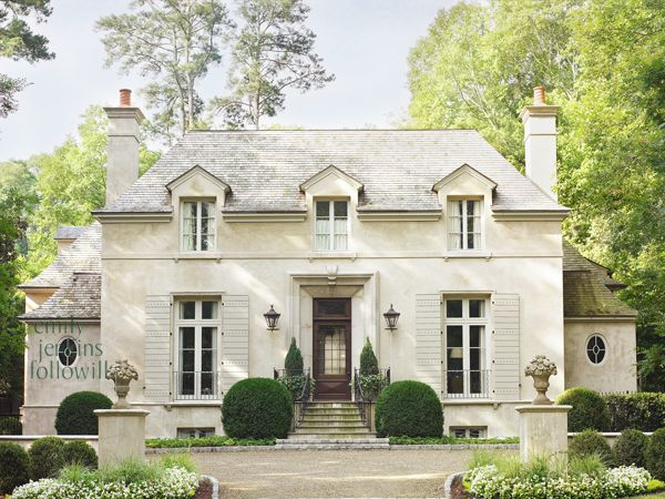 Popular Exterior French style clean lines stone Style - Popular repaint house Picture