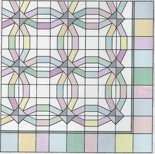 Double Wedding Ring paper piecing quilt pattern eBay foltvarrs
