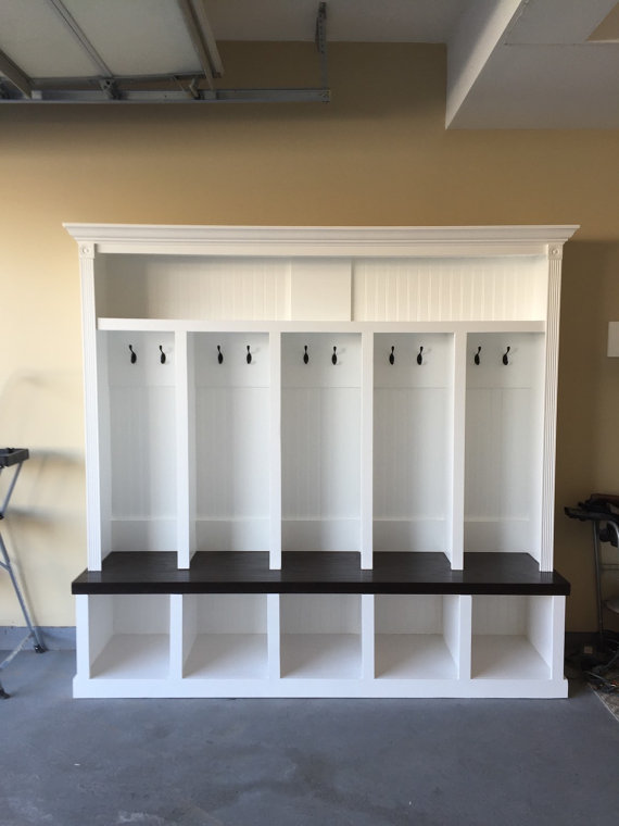 5 Cubby Mudroom Entryway Locker Halltree Bench Drop Zone