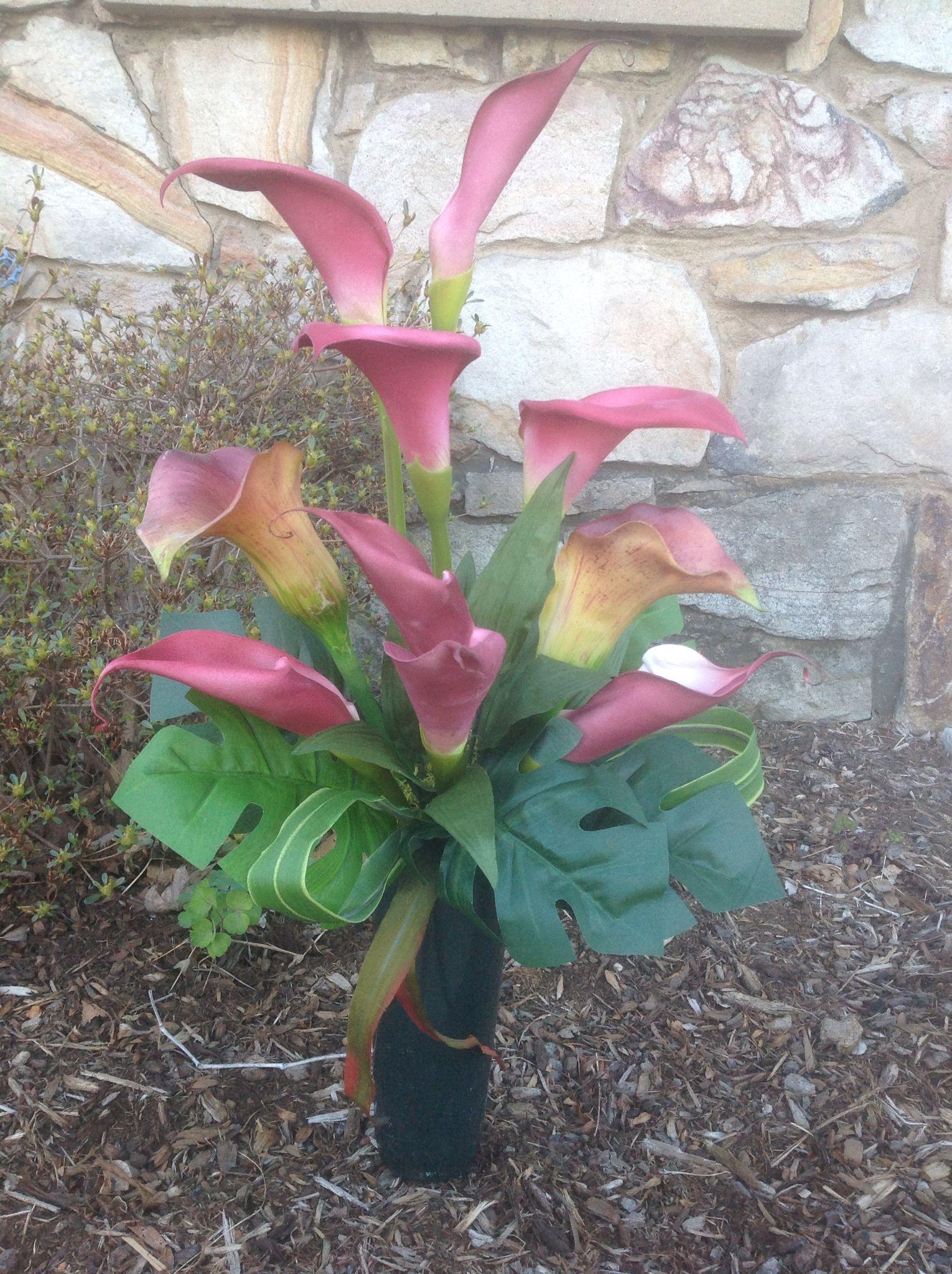 pin cemetery for flower pinterest grave spring vases vase