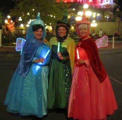 Ohmygawsh Light Up Wings Fairy Godmother Costume Disney