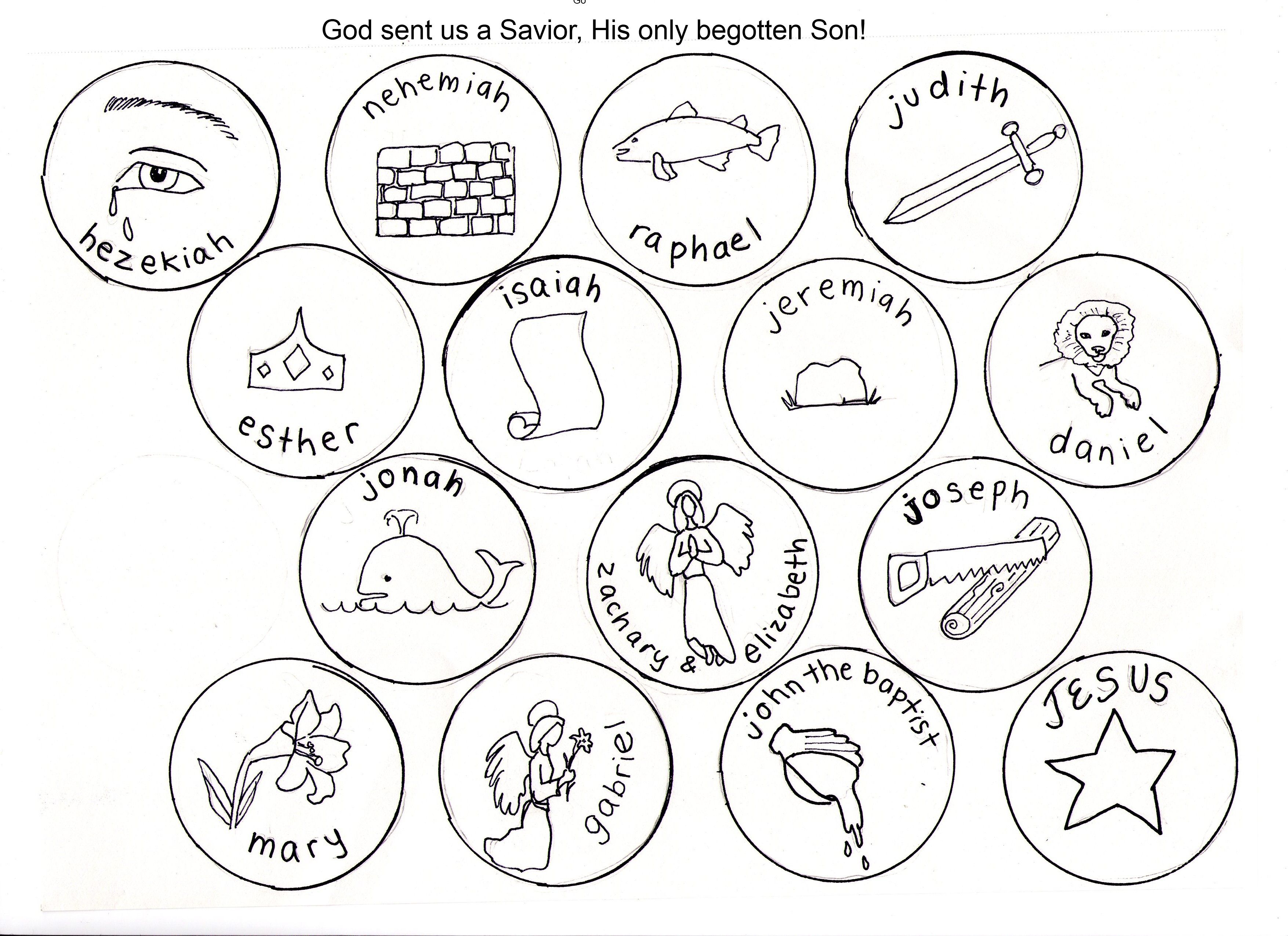 Jesse Tree Symbols Coloring Pages Disciples of Jesus Pinterest