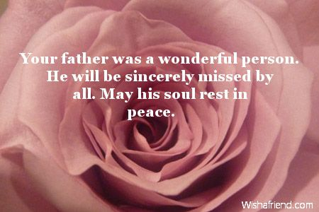 Sympathy Messages For Loss Of Father via Relatably.com | Sayings ...