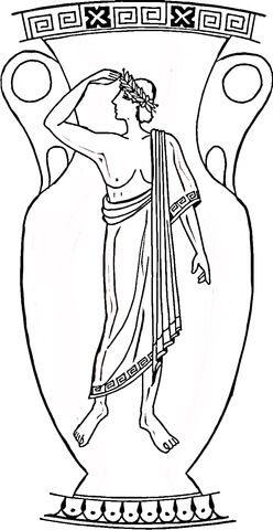 Decorazioni Dei Vasi Greci.Vaso Greco Disegno Da Colorare Scuola E Altro Decorazioni Greche