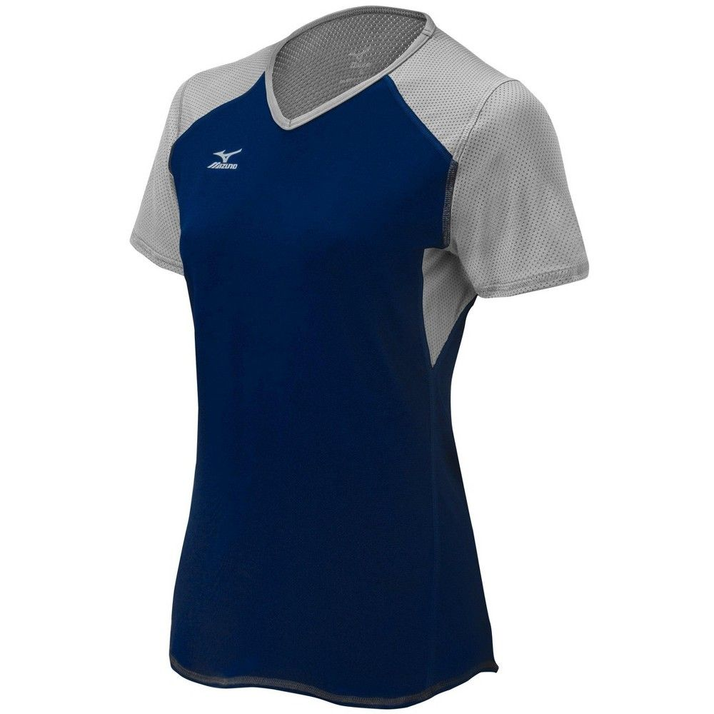 Mizuno Women S Techno Vi Short Sleeve Volleyball Jersey Size Extra Large In Color Black 9090 Workout Tops For Women Active Wear For Women Volleyball Outfits