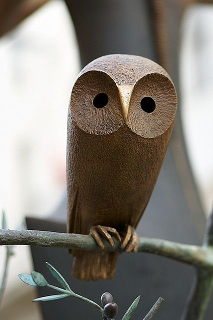 Bronze Little Owl 도자기 조각 나무 조각 창의적인 데코