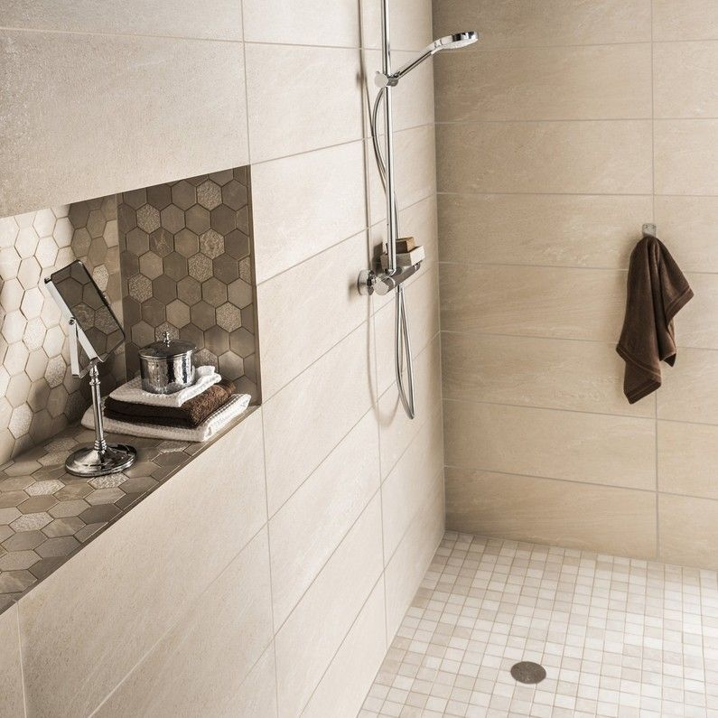 Salle de bains Blanc / Beige / Naturel | salle de bain en ...