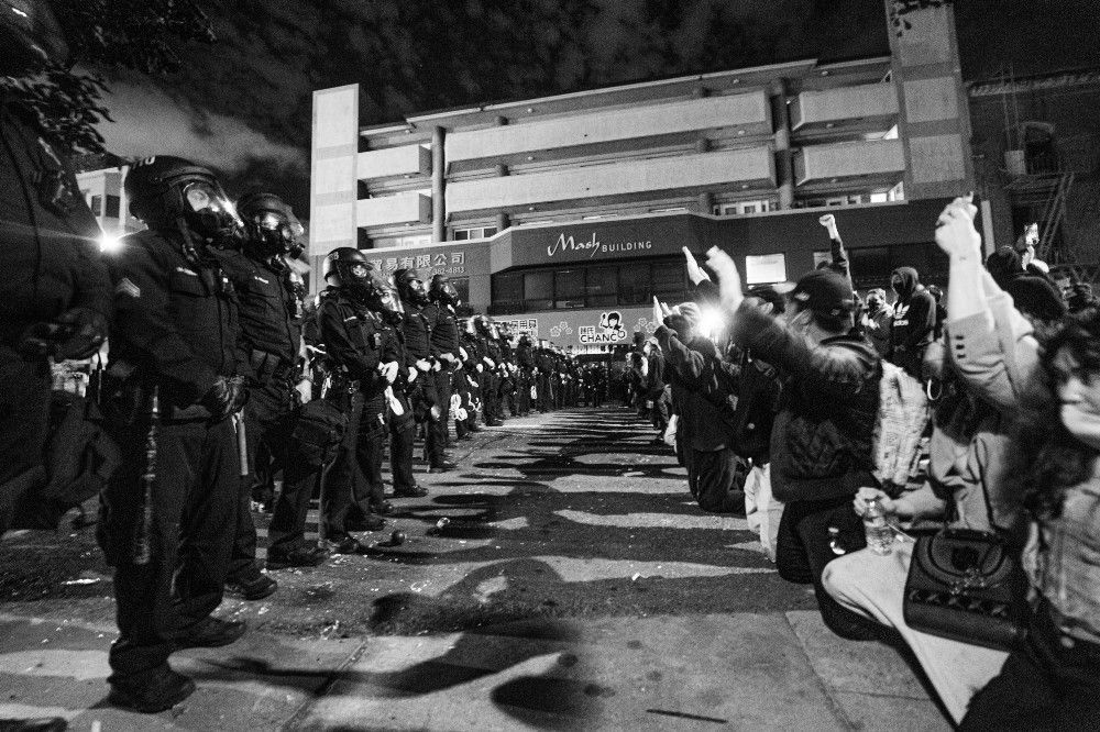 Photo Essay Outrage In Oakland As Protesters Demand Justice And Change Photo Essay Oakland Protest Weekend Is Over