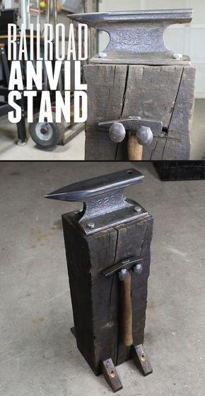 9cbd6ec3418c0 Easy to follow, step-by-step instructions for how to make this rustic  looking anvil stand.