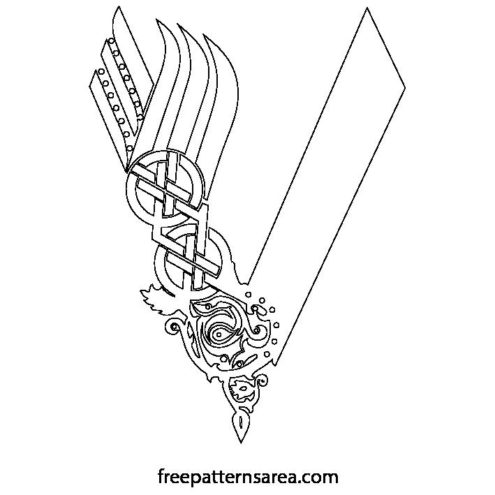 Vikings Serie Logo Symbol Vector Freepatternsarea Shoulder Armor Tattoo Viking Symbols Viking Logo