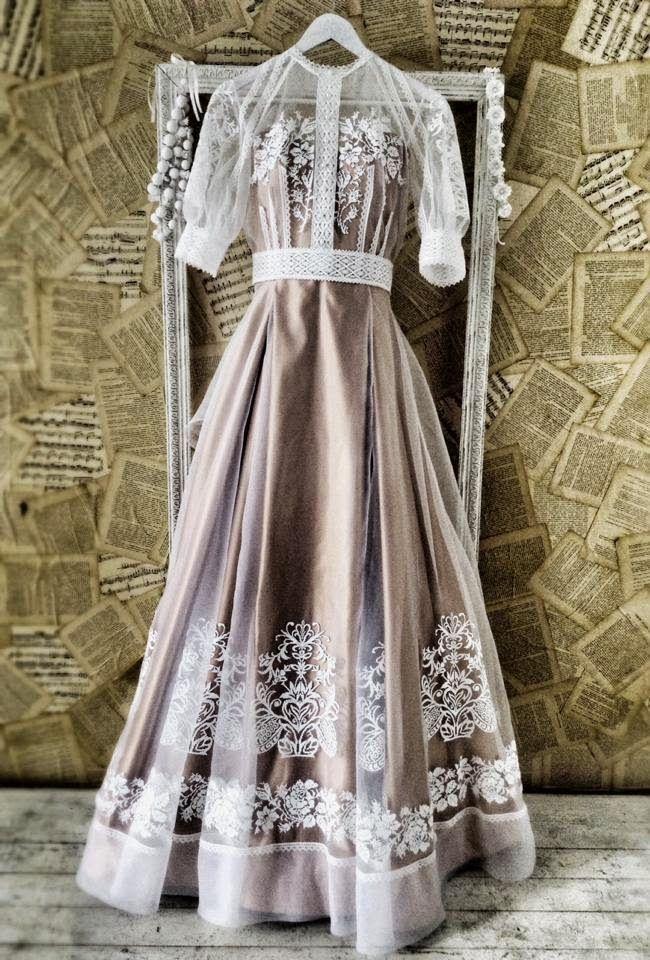 Ukrainian style wedding dresses from Oksana Polonets