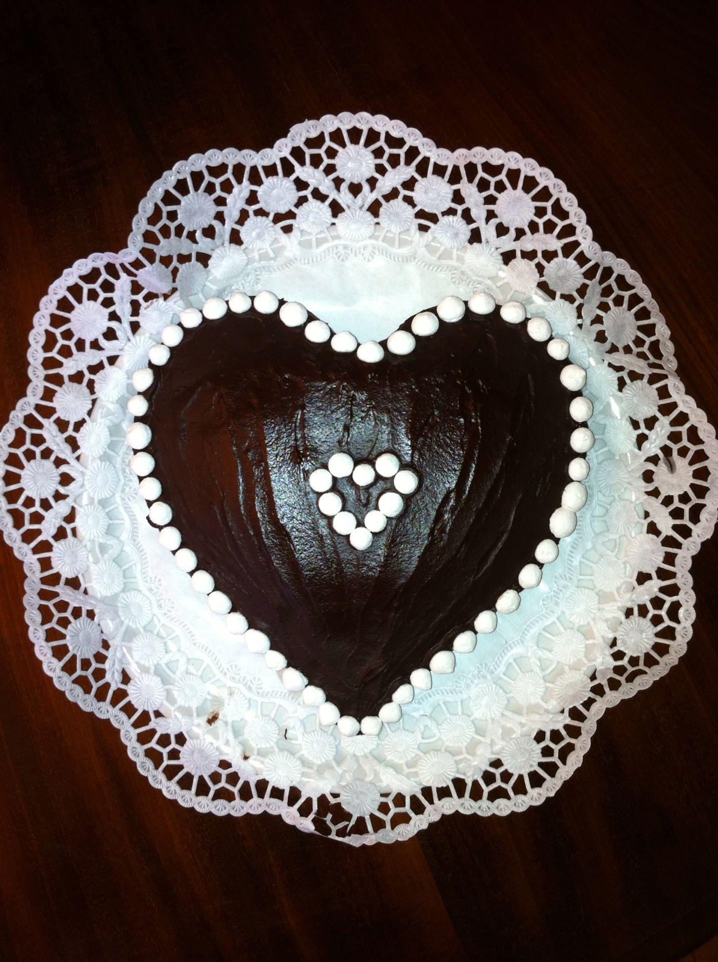 un cuore per un augurio cioccolatoso