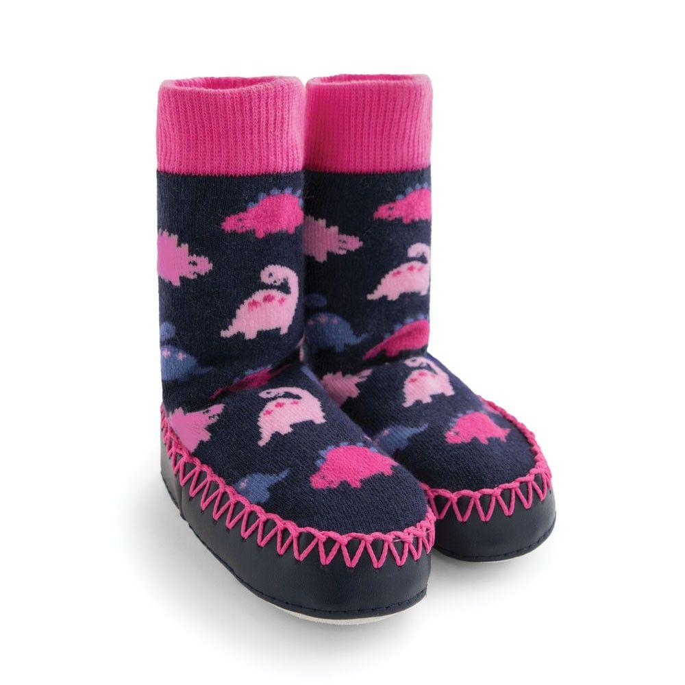 Dinosaur Moccasin Slipper Socks   JoJo