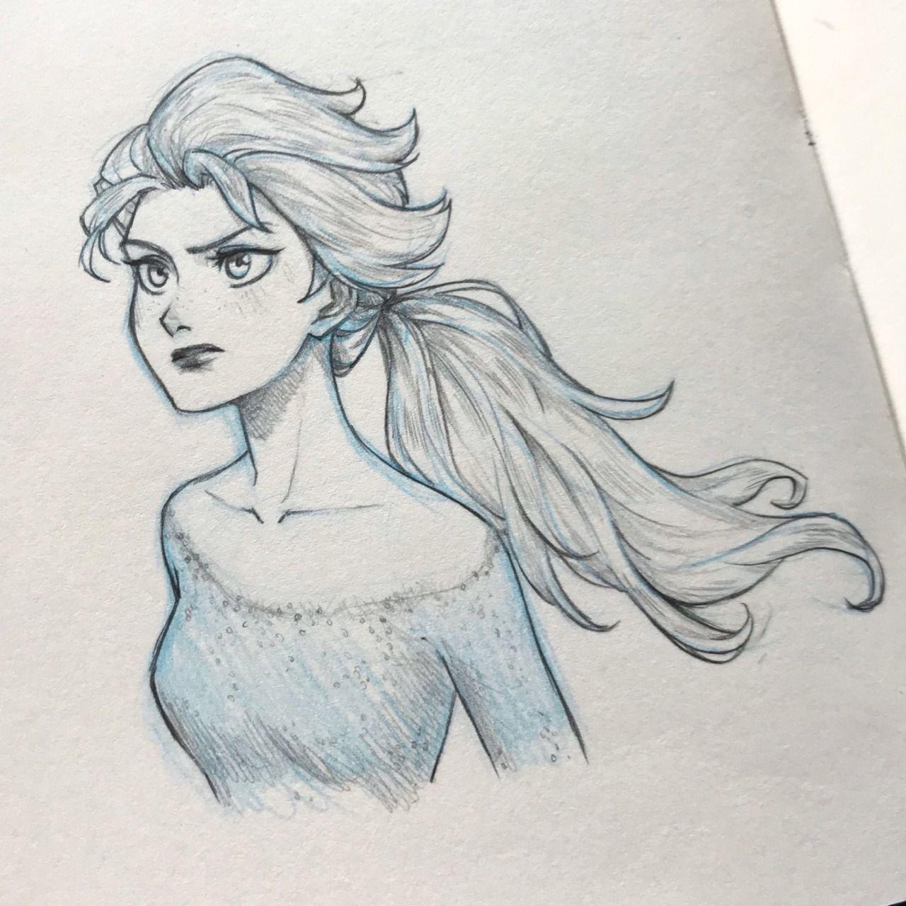 Elsa Frozen Drawings Disney Princess Drawings Disney Art