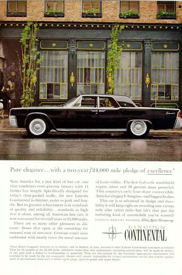 1961 Lincoln Ad-05 | 1961 Lincoln | Pinterest | Ads, Cars and Ford