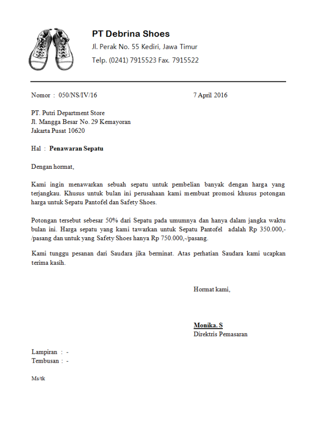 Contoh Surat Dinas Semi Block Style Download Kumpulan Gambar