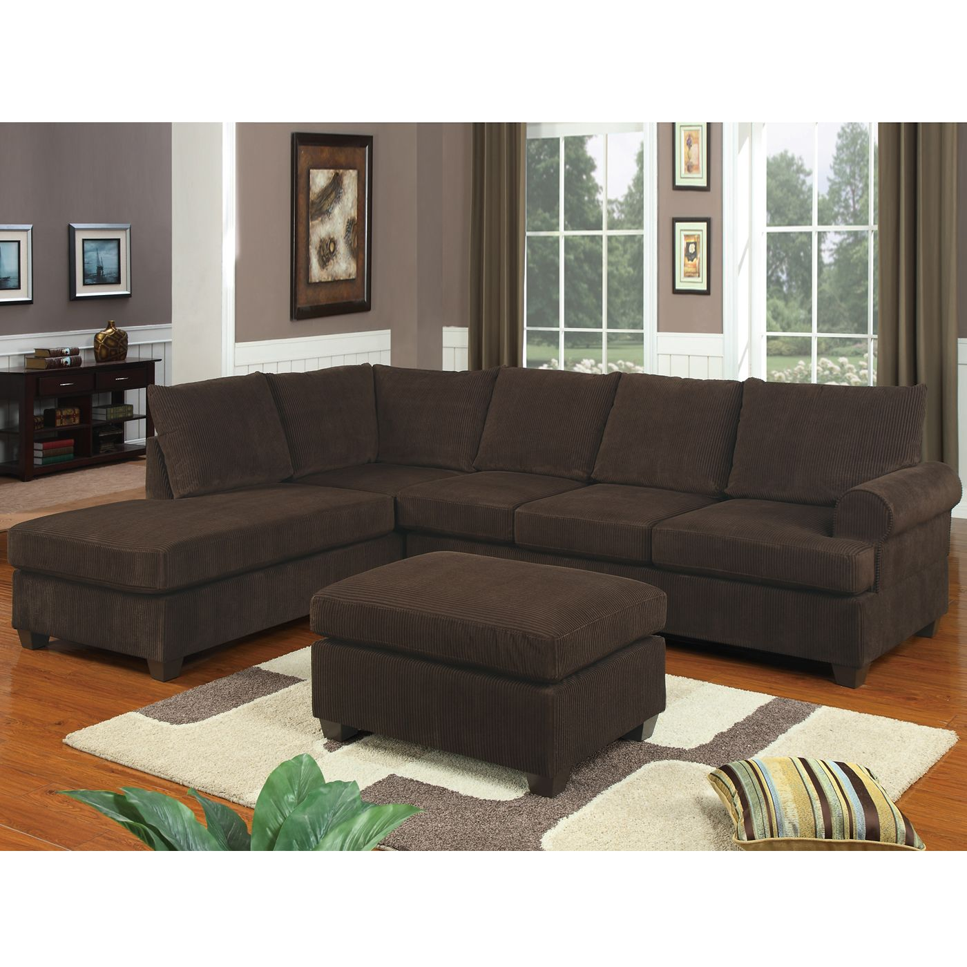 Poundex Furniture F7135 Bobkona Two Piece Sectional Sofa At Atg S Browse Our Sofas All With Free Shipping And Best Price Guaranteed