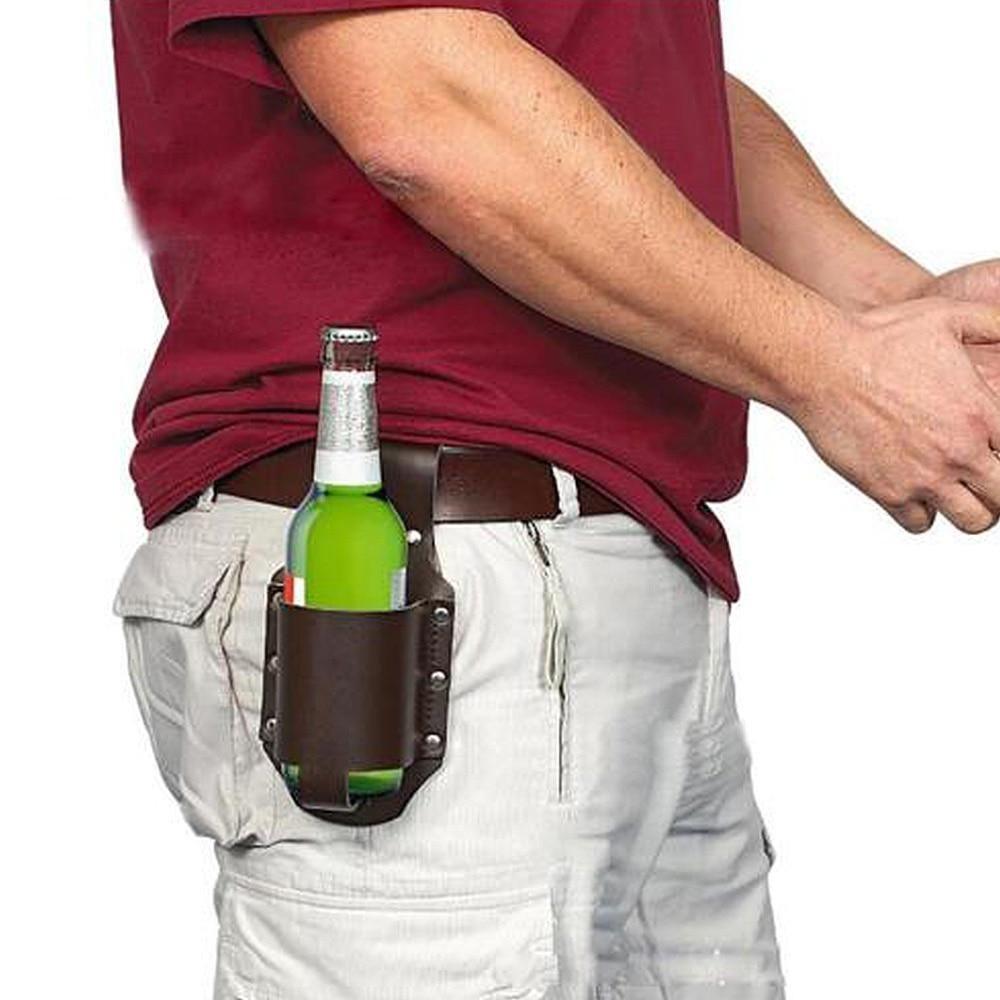 Abedoe New 1pc Holster Portable Bottle Waist Beer Belt Bag Handy Wine Bottles Beverage Can Holder Beer Holster Bottle Can Holders