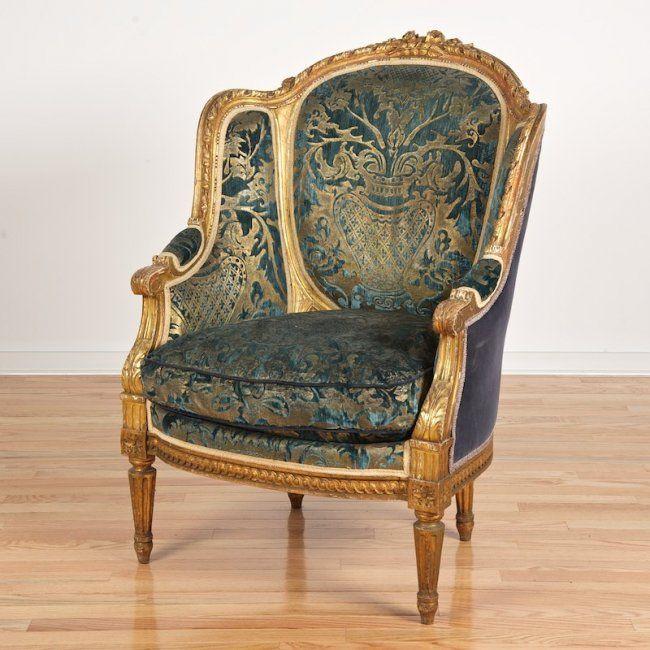 Nice Napoleon Iii Giltwood Bergere A Oreilles Mobilier De Salon Meubles Anciens Et Idee Deco