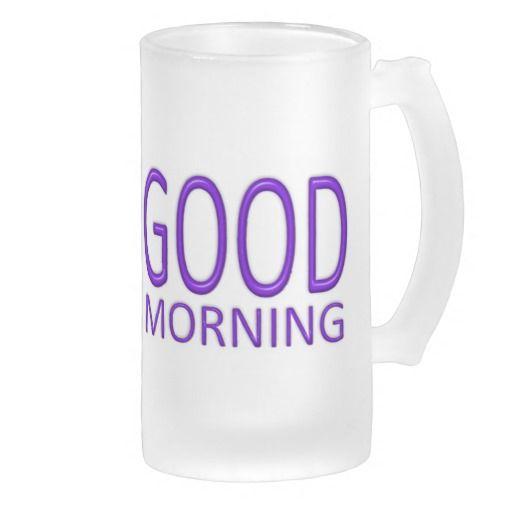 Good Morning mug - blue-violet