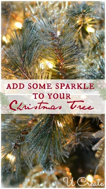Add Some Sparkle To Your Christmas Tree With Spray Paint U Create Christmas Tree Glitter Holiday Christmas Tree Christmas
