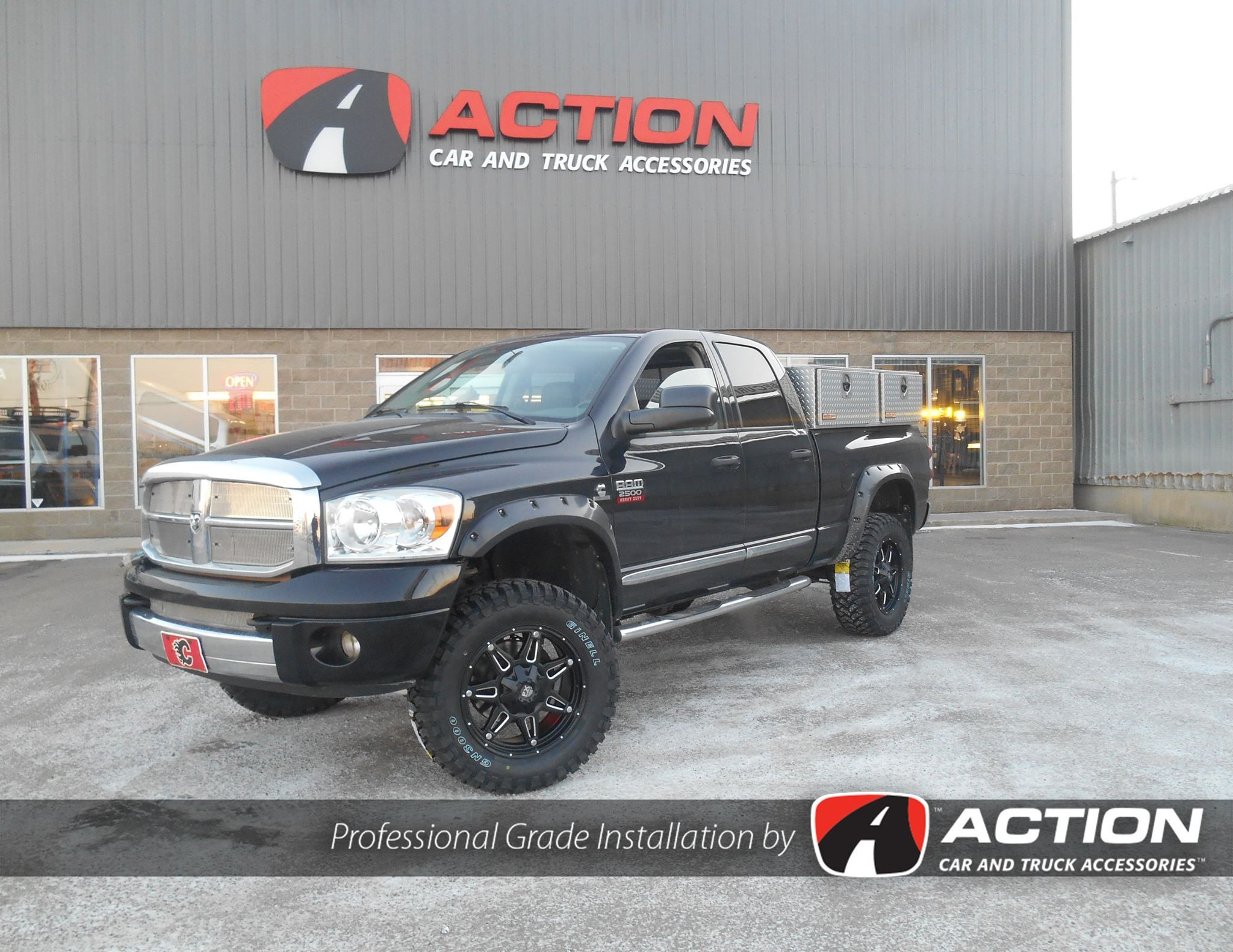 2008 Ram 2500 Cummins From Our Store In Saskatoon Sk Installed Sst Lift Kit 3 Front 2 Rear From Readylift S Truck Accessories Installation Cars Trucks