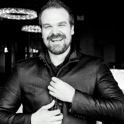 """People that have it all together are hard to love; because they don't need our love, they will be fine without us. Hop needs your love because he is not okay; he is broken, and he may not make the right decisions. It's a rich journey."" -David Harbour"
