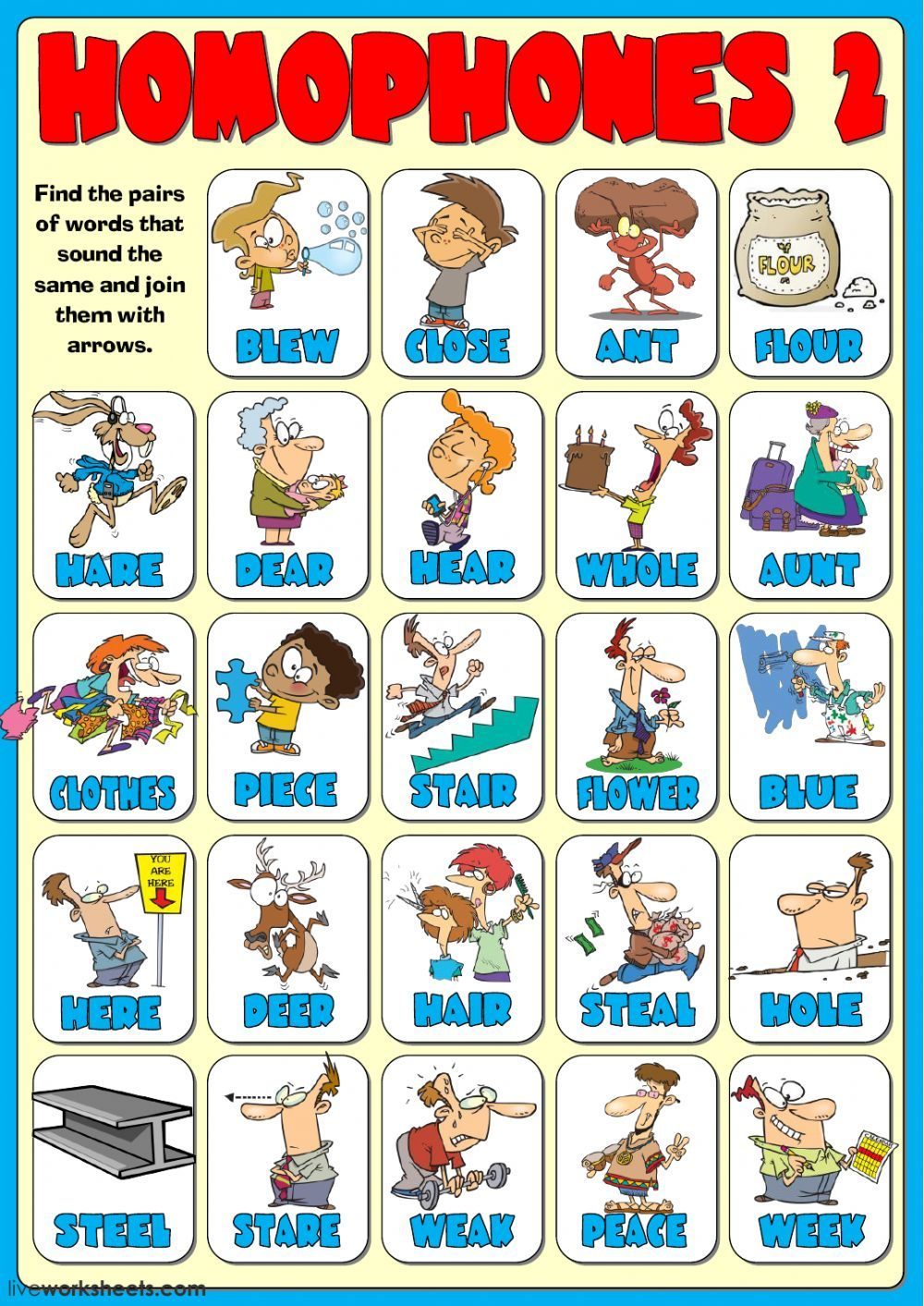 Homophones Interactive And Downloadable Worksheet You Can Do The Exercises Online Or Download The Worksh Homophones Homophones Worksheets 2nd Grade Worksheets [ 1413 x 1000 Pixel ]