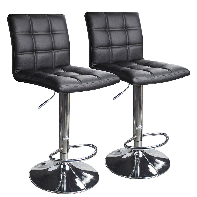 Leopard Modern Square Pu Leather Adjustable Bar Stools Bar