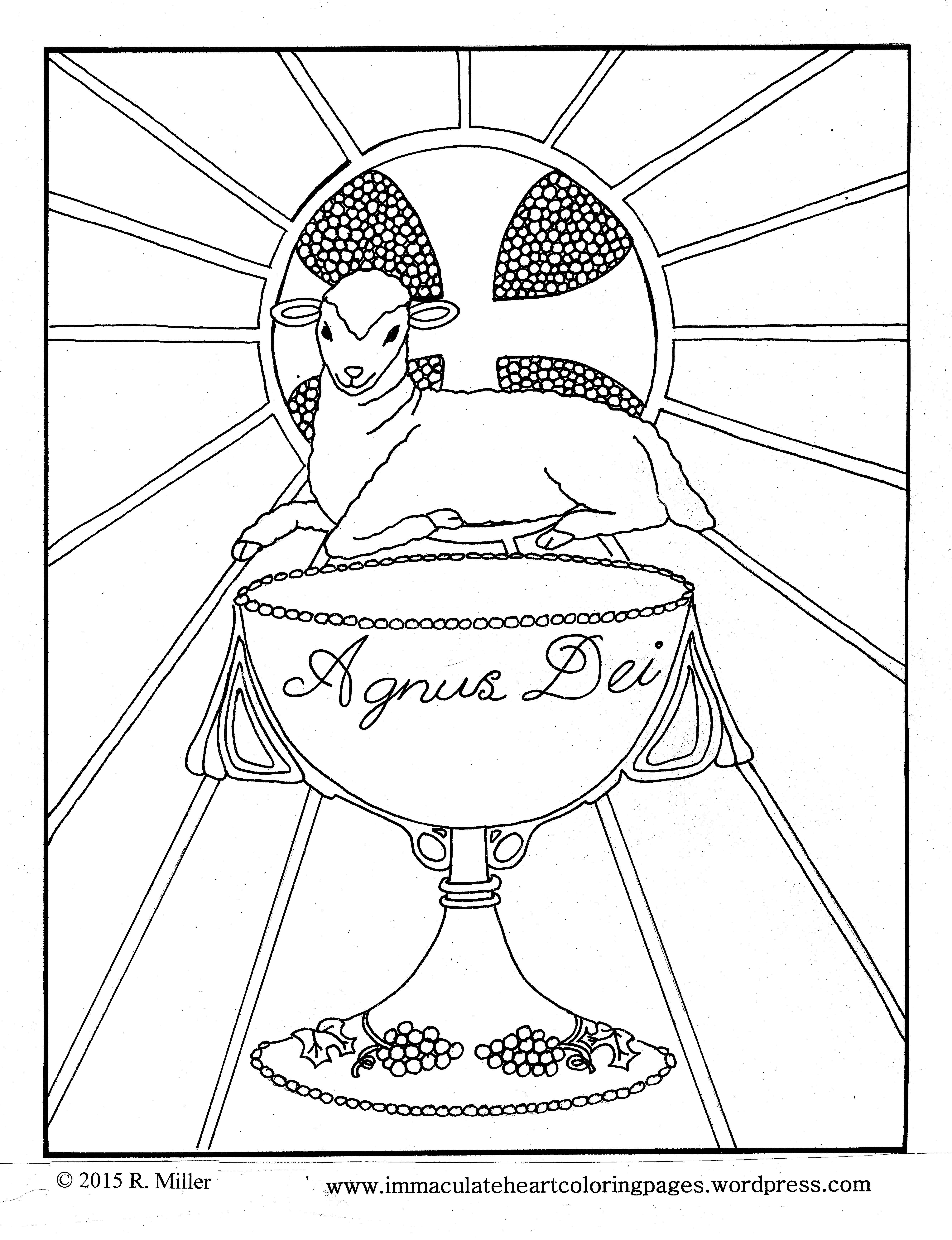 Agnus Dei / Lamb of God/ Eucharist coloring page