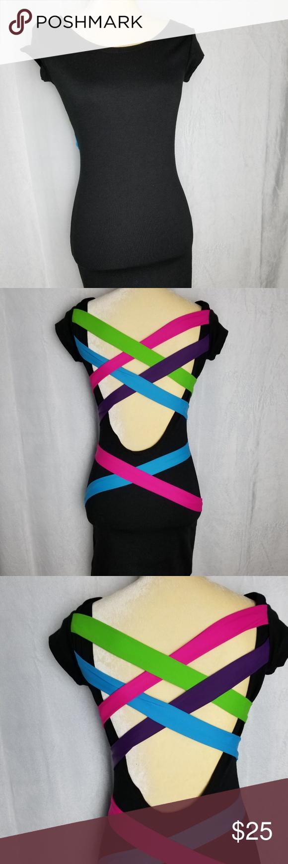 Tres Bien Black Dress Black Dress Rainbow Dress Dresses [ 1740 x 580 Pixel ]