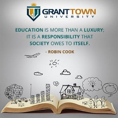 Education is more than a luxury; it is a responsibility that society owes to itself. #RobinCook #Success #FF #Educatingtheworld