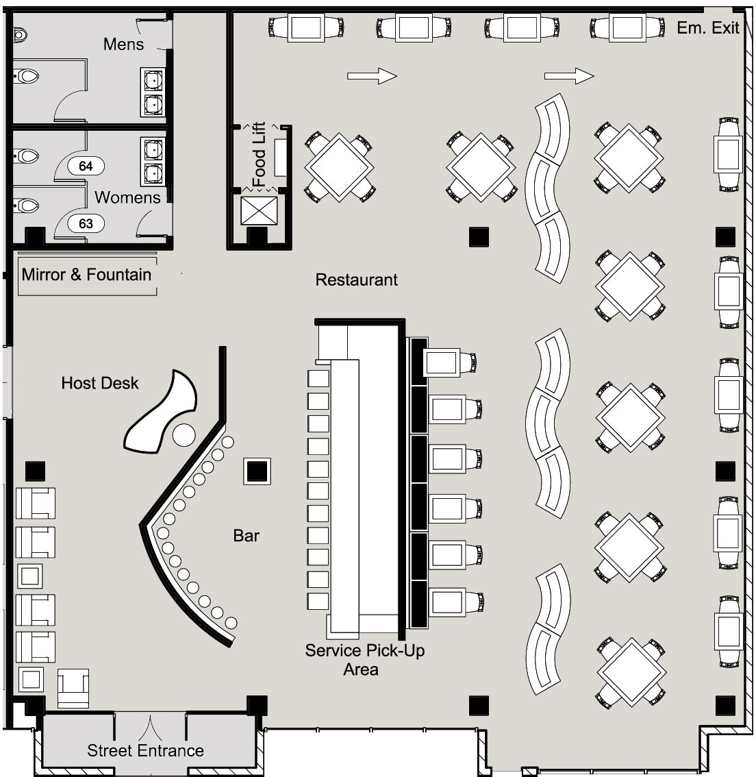 Architectural Floor / Space Plans by Jack Patterson at Coroflot. | floor plans - 2019 ...