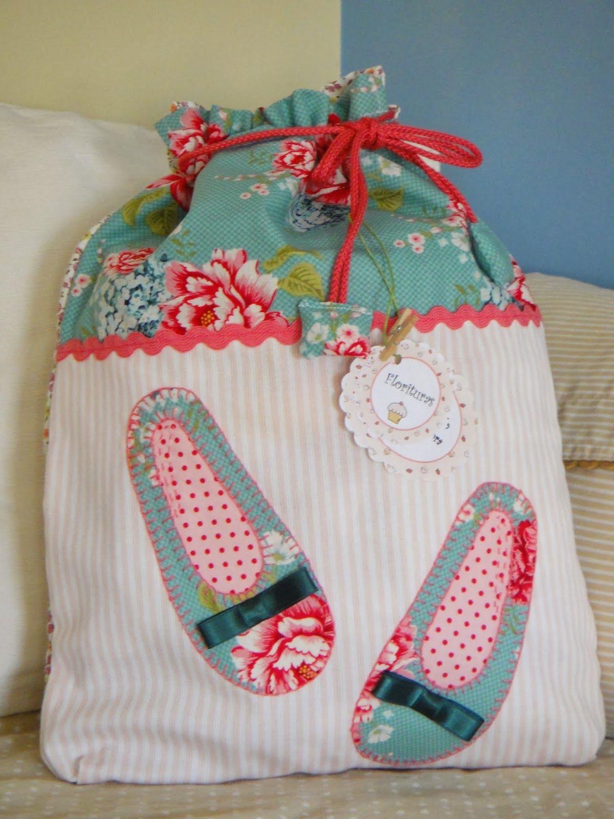 a13beaa65 bolsa o bolsita de tela con aplicaciones hechas a mano | Aplique ...