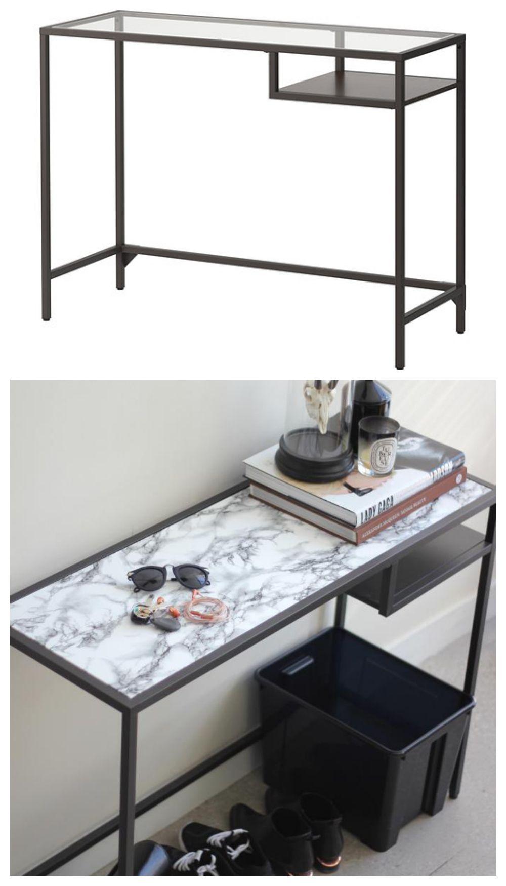 5 easy furniture makeovers that skip the paint decor idea pinterest m bel regal und deko. Black Bedroom Furniture Sets. Home Design Ideas