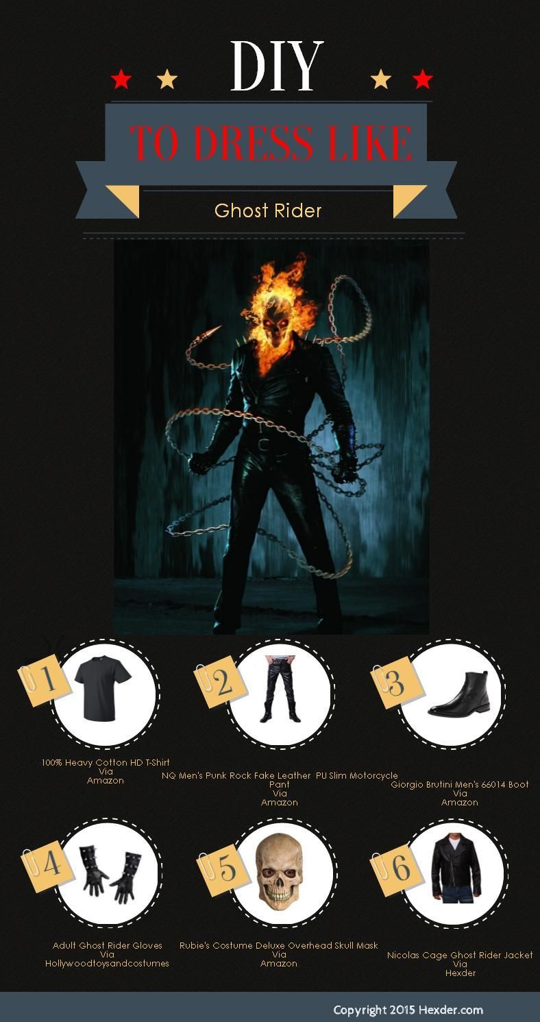 Ghost Rider Guide | Anthony | Pinterest | Black leather biker ...
