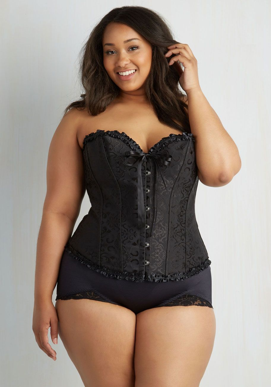 At Your Arabesque Corset in Noir - Extended Size | Wedding bride ...