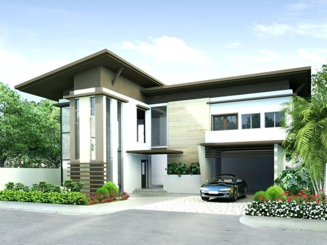 35 Stunning Modern Home Exterior Color Ideas Modern House Philippines Philippines House Design House Roof Design