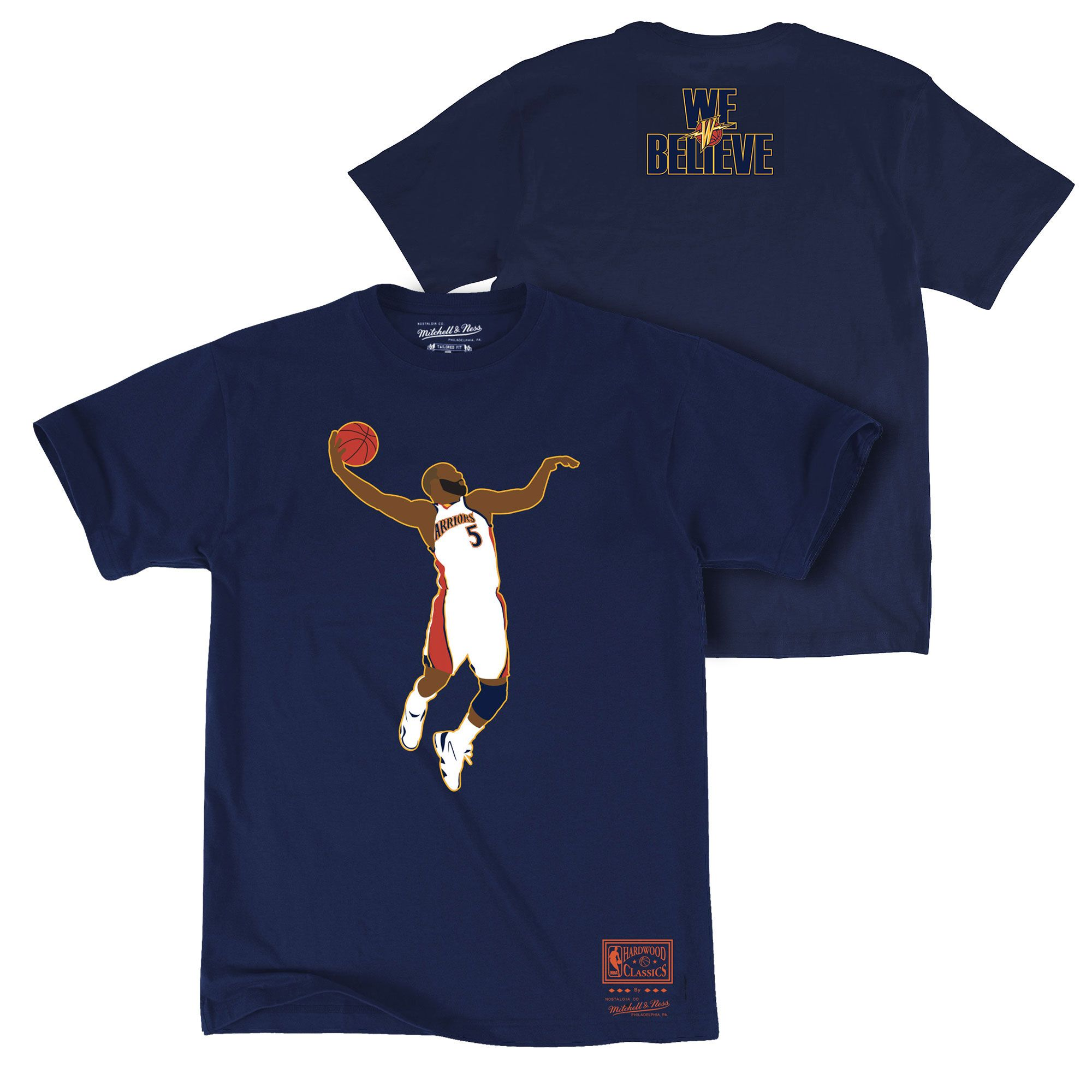 competitive price bc0d9 aac2f Golden State Warriors Mitchell   Ness Hardwood Classics Baron Davis  We  Believe  Dunk Tee - Navy - Golden State Warriors - Official Online Store